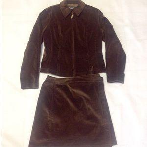 Emanuel Ungaro Liberte Brown Corduroy Skirt Suit 6
